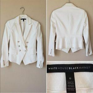 White House Black Market Blazer SZ 0 Embossed